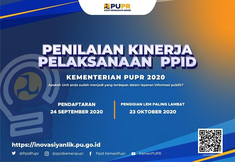 Penilaian Kinerja Pelaksanaan PPID Kementerian PUPR Tahun 2020
