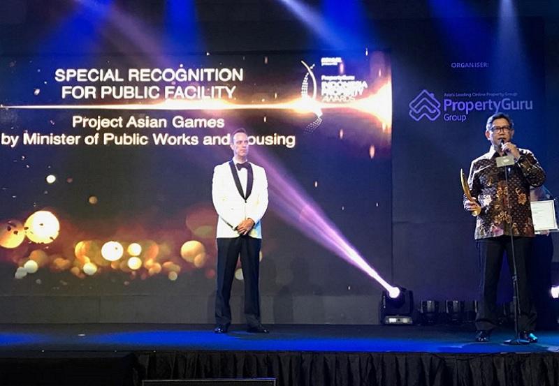 Proyek Asian Games 2018 Kementerian PUPR Mendapatkan Penghargaan Khusus Indonesia Property Award 2018 Kategori Fasilitas Umum