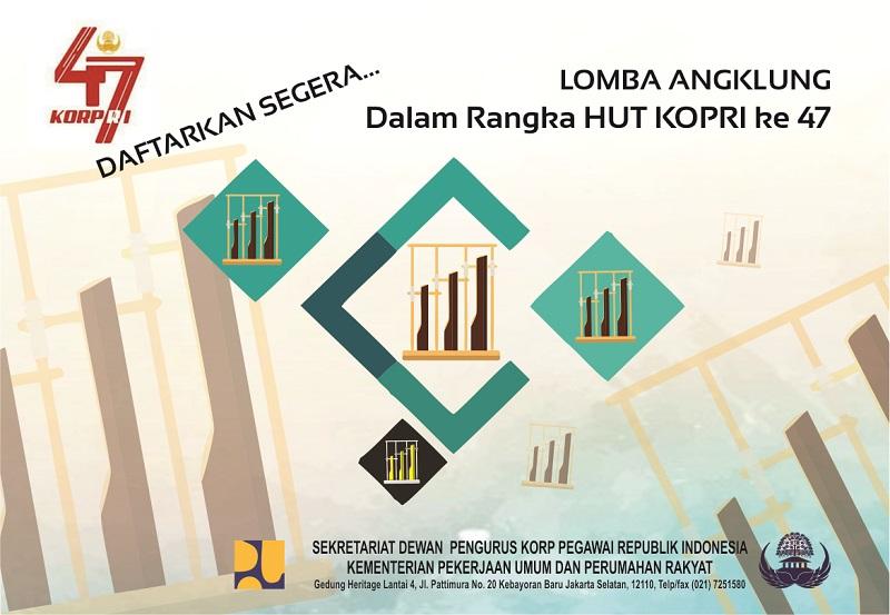 Pendaftaran Peserta Lomba Angklung dalam Rangka HUT KORPRI ke 47 Diperpanjang Sampai Dengan 22 Oktober 2018